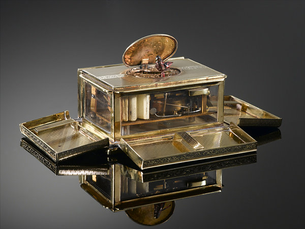 Silver Gilt Bird Box, collection of M.S. Rau Antiques