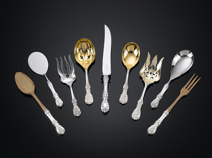 Tiffany Flatware, collection of M.S. Rau Antiques