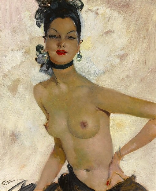 Jean Gabriel Domergue, collection of M.S. Rau Antiques